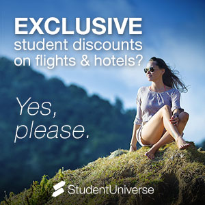 Sign up to Save Big on Travel student service