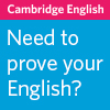 Cambridge English sponsored listing logo